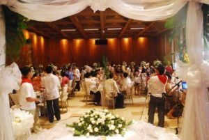 wedding picture reception ramon magsaysay